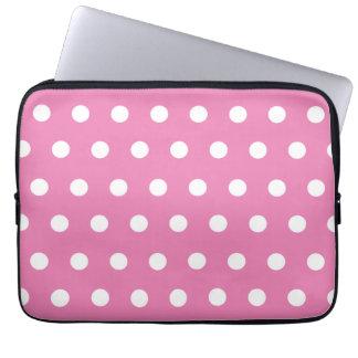 Pink Polka Dot Computer Sleeves