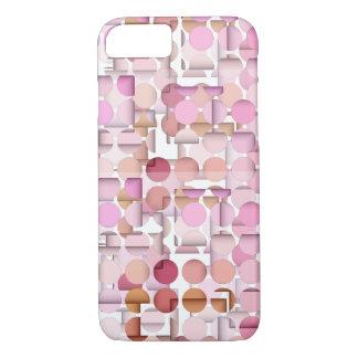 Pink Polka Dot Layers Pattern iPhone 7 Case