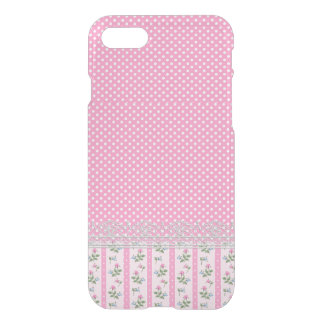 Pink Polka Dot, Roses and Lace iPhone 7 Case