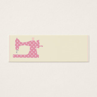 Pink polka dot seamstress business cards