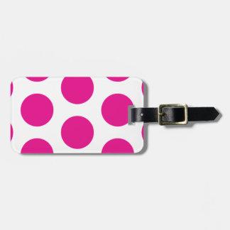 Pink Polka dot Travel Bag Tag Template
