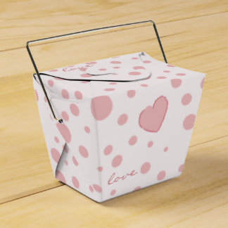 Pink Polka Dots and a Heart Favour Box
