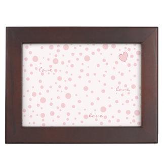 Pink Polka Dots and a Heart Keepsake Box