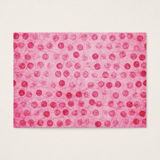 Pink Polka Dots and Cupcake Business Card