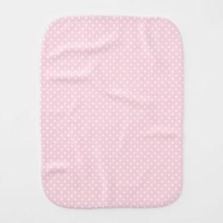 Pink Polka Dots and Stripes burp cloth