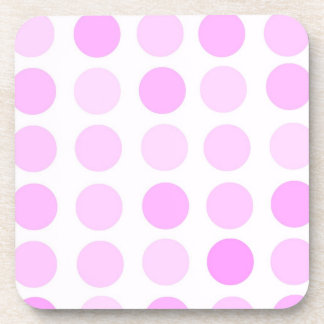 Pink Polka Dots Beverage Coaster