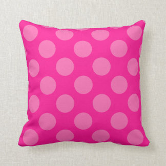 Pink Polka Dots Cushion