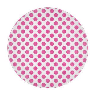 Pink Polka Dots Cutting Board