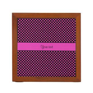 Pink Polka Dots Desk Organiser