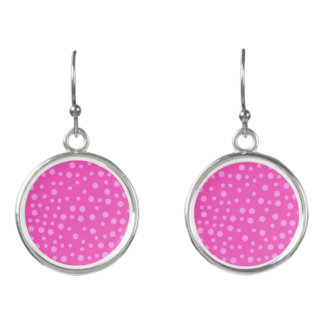 Pink Polka Dots Earrings