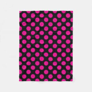 Pink Polka Dots Fleece Blanket