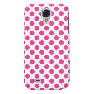 Pink Polka Dots Galaxy S4 Cases