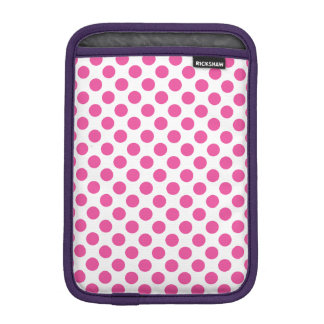 Pink Polka Dots iPad Mini Sleeve