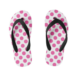Pink Polka Dots Kid's Thongs