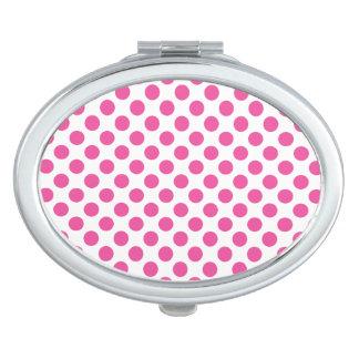 Pink Polka Dots Mirror For Makeup