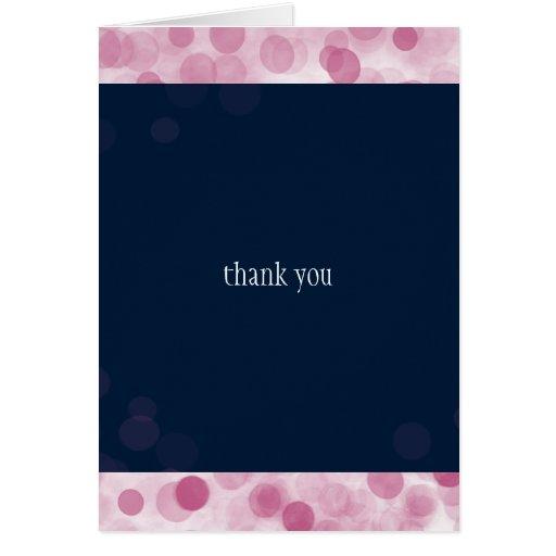 Pink Polka Dots Modern Wedding Thank You Greeting Cards