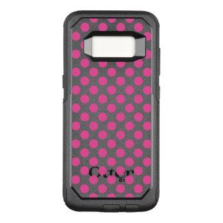 Pink Polka Dots OtterBox Commuter Samsung Galaxy S8 Case
