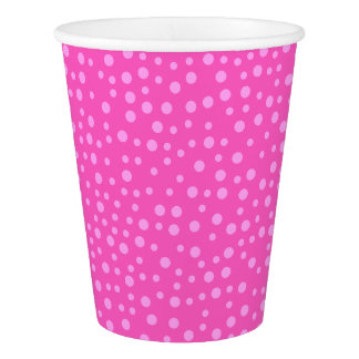 Pink Polka Dots Paper Cup