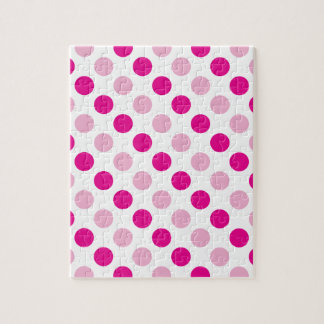 Pink polka dots pattern jigsaw puzzle