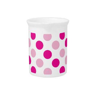 Pink polka dots pattern pitcher