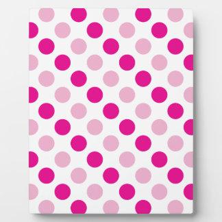 Pink polka dots pattern plaque
