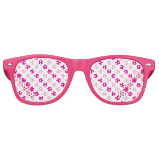 Pink polka dots pattern retro sunglasses