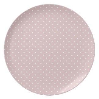 Pink Polka Dots Dinner Plates