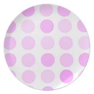 Pink Polka Dots Dinner Plate