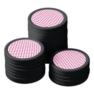 Pink Polka Dots Poker Chips