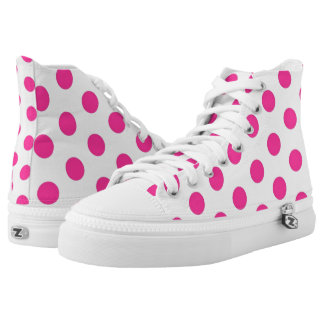 Pink Polka Dots Printed Shoes
