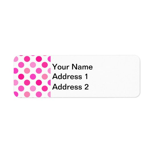 Pink Polka Dots Return Address Label