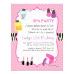 Pink Polka Dots, Spa Birthday Party Invitation Announcement