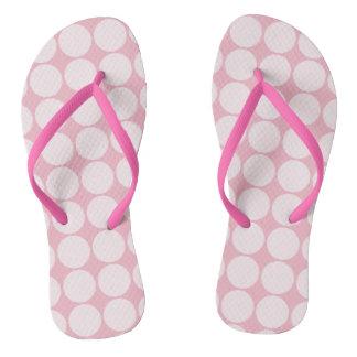 Pink Polka Dots Thongs