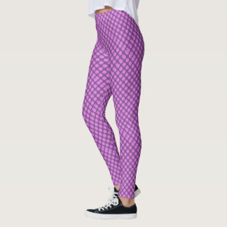 pink polka dots Thunder_Cove purple Leggings