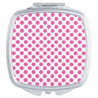 Pink Polka Dots Travel Mirror