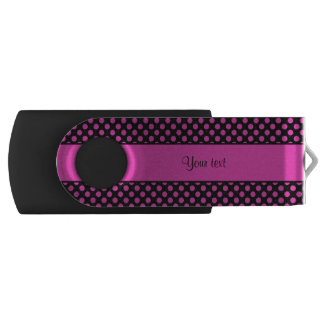 Pink Polka Dots USB Flash Drive