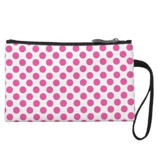 Pink Polka Dots Wristlet