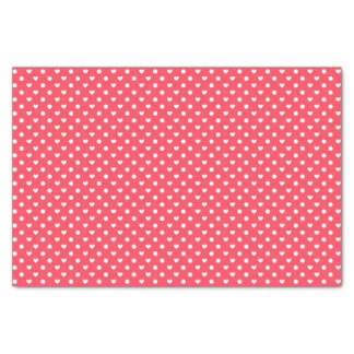 Pink Polka hearts Tissue Paper