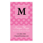 Pink Polka Mummy Card Pack Of Standard Business Cards