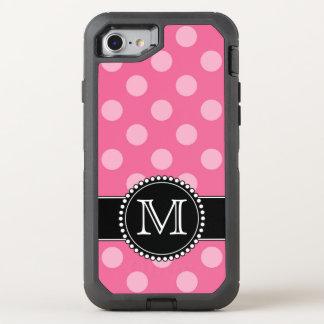 Pink Polkadot, Personalised, Monogrammed Defender OtterBox Defender iPhone 7 Case
