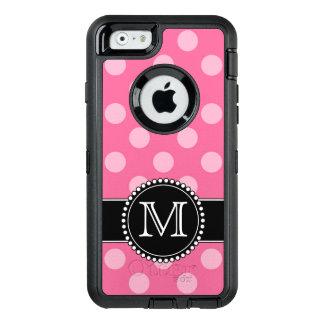Pink Polkadot, Personalised, Monogrammed Defender OtterBox Defender iPhone Case