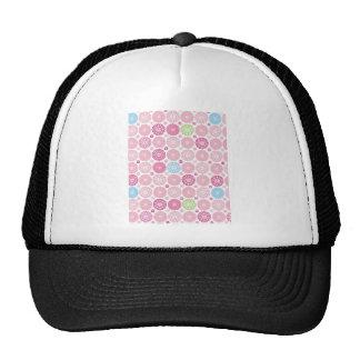 Pink polkaDots Mesh Hat