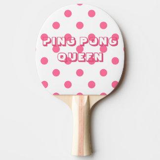Pink Polkadots | PING PONG QUEEN Ping Pong Paddle