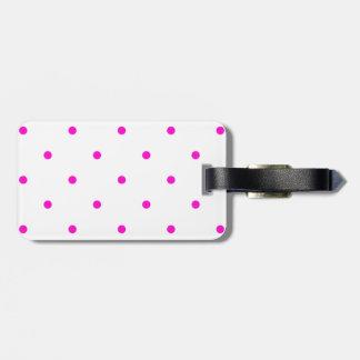 Pink Polkadots Small Luggage Tags