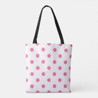 Pink Polkadots Tote Bag