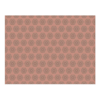 Pink Polygon pattern Postcard
