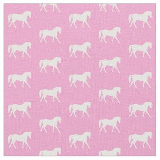 Pink Pony Fabric, Pretty Horse Fabric
