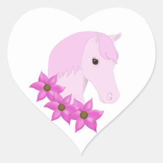 Pink Pony & Flowers Sticker
