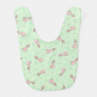 Pink Poodle Baby Bib