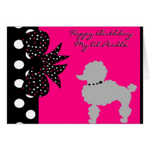 Pink poodle birthday cards invitations zazzle pink poodle birthday card bookmarktalkfo Gallery